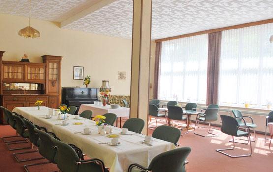 Unsere schönen Gruppenräume in unserem Erholungshaus Tanne Elbingerode im Harz