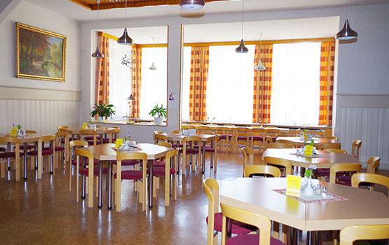 In unserem Christlichen Gästehaus Tanne der Speisesaal